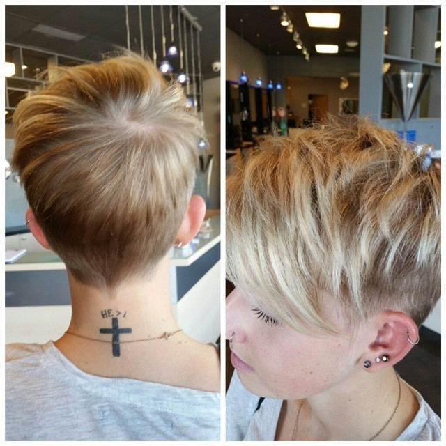 Short Pixie Haircuts with Shaved Sides