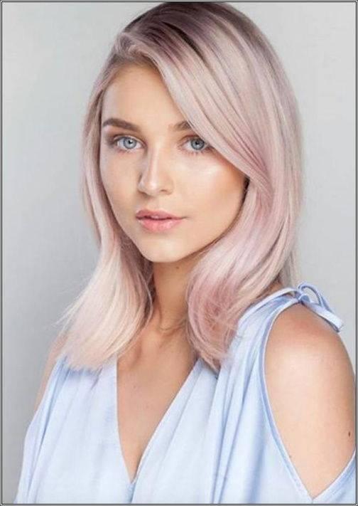 Balayage ružovej blond