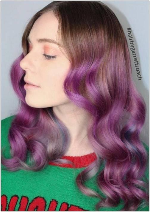 Účes Ako fialová hmla