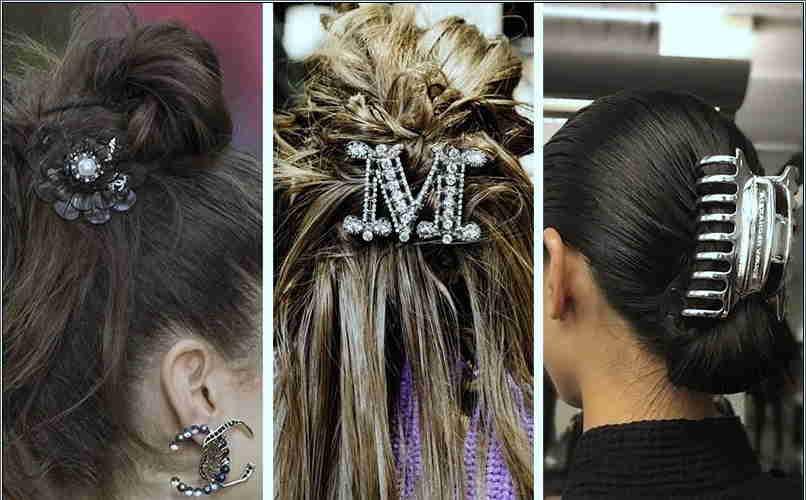 Sponky do vlasov s monogramom